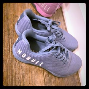 Blue NO BULL athletic sneakers gym lifting